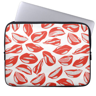 Red Lips ready to kiss Laptop Computer Sleeves