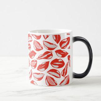 Red Lips ready to kiss Magic Mug