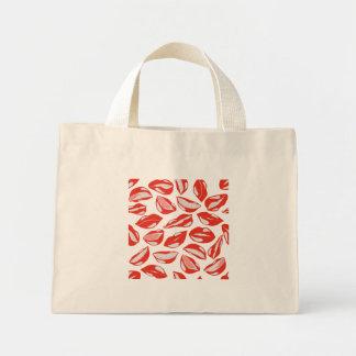 Red Lips ready to kiss Mini Tote Bag