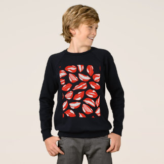 Red Lips ready to kiss Sweatshirt
