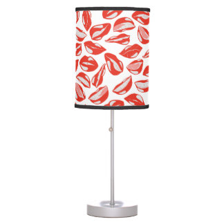 Red Lips ready to kiss Table Lamp