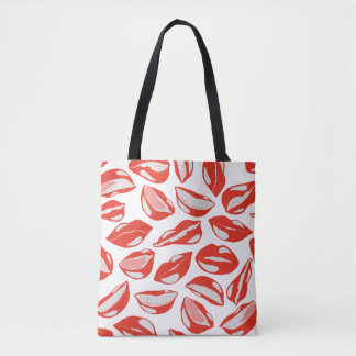 Red Lips ready to kiss Tote Bag