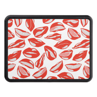 Red Lips ready to kiss Trailer Hitch Cover