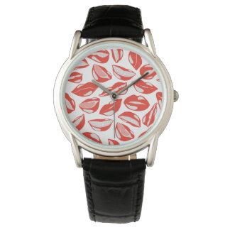Red Lips ready to kiss Wrist Watch