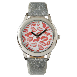 Red Lips ready to kiss Wrist Watches