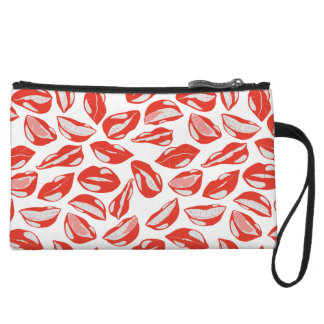 Red Lips ready to kiss Wristlet