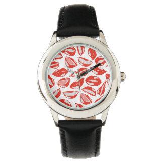 Red Lips ready to kiss Wristwatch