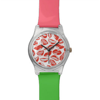 Red Lips ready to kiss Wristwatches