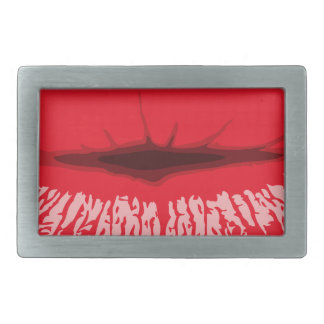 Red Lips Rectangular Belt Buckles