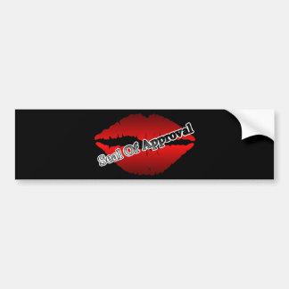 Red Lips Seal Of Approval Pop Art Bumper Sticker