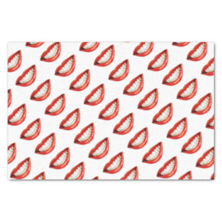 Red lips tissue paper