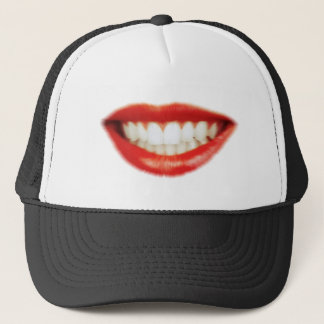 Red lips trucker hat