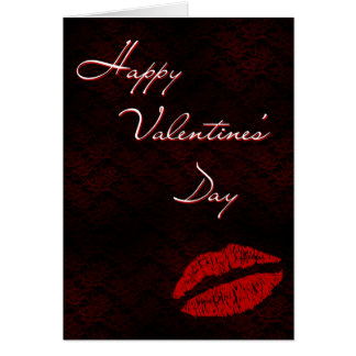 Red Lips Valentines Card