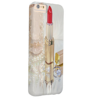 red lipstick and jewelry on mirror barely there iPhone 6 plus case