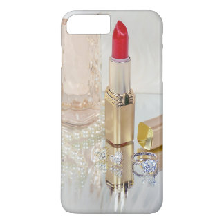 red lipstick and jewelry on mirror iPhone 8 plus/7 plus case