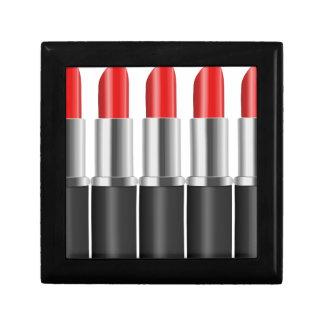 Red lipstick. gift box