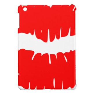 Red Lipstick Illustration iPad Mini Cover