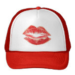 Red Lipstick Kiss Lips Hat