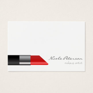 Red lipstick Makeup Unique Professional Business Card