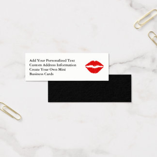 Red Lipstick Mini Business Card