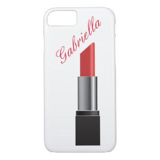 Red Lipstick Monogram iPhone 7 Case
