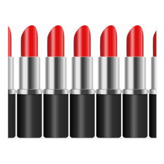 Red lipstick. postcard