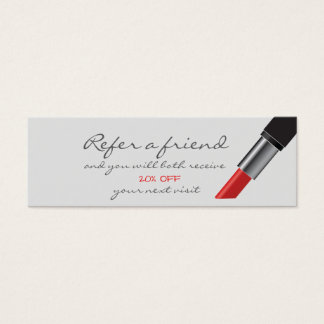 Red lipstick Referral Card