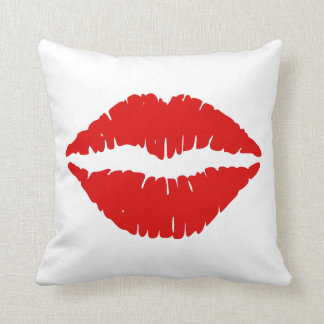 Red Lipstick Thank You Throw Pillow