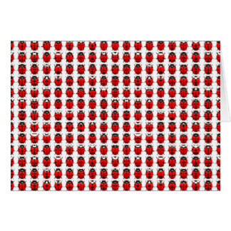 Red Little Ladybugs Card