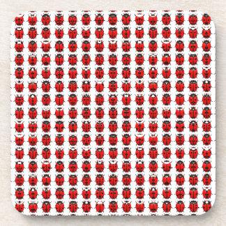 Red Little Ladybugs Coaster