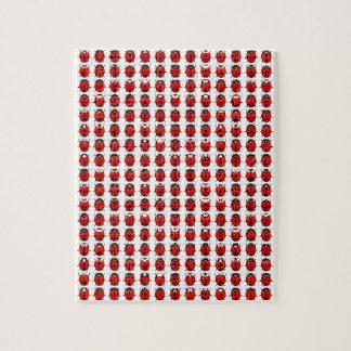 Red Little Ladybugs Jigsaw Puzzle