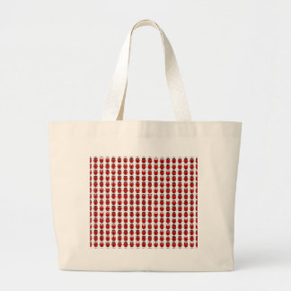 Red Little Ladybugs Large Tote Bag