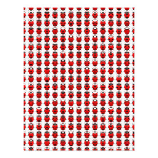 Red Little Ladybugs Letterhead