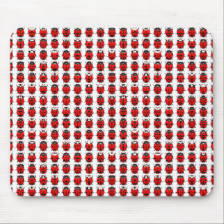 Red Little Ladybugs Mouse Pad