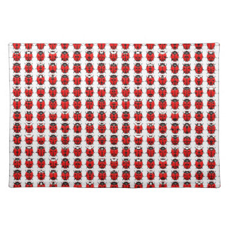 Red Little Ladybugs Placemat