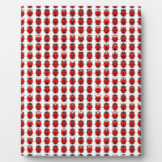 Red Little Ladybugs Plaque