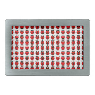 Red Little Ladybugs Rectangular Belt Buckle
