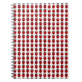 Red Little Ladybugs Spiral Notebook
