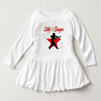 RED LITTLE SLUGGER SOFTBALL GIRL DESIGN TEE SHIRTS