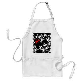 Red lizard - pattern standard apron