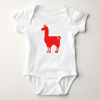 Red Llama Baby Bodysuit