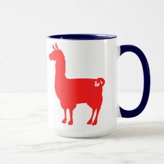 Red Llama Mug