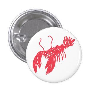 Red Lobster 1 Inch Round Button