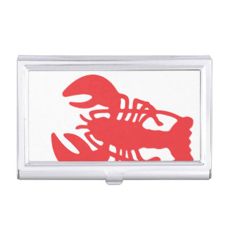 Red Lobster Business Card Case