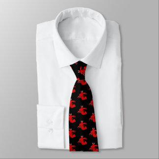 Red Lobster Design Black Tie