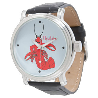 Red Lobster Design Personalized Watch