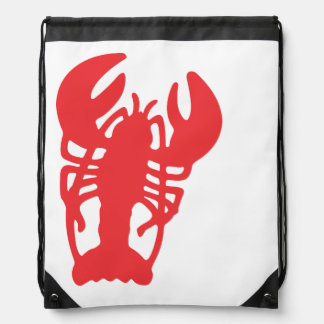 Red Lobster Drawstring Bag