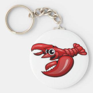red lobster key chain. basic round button keychain