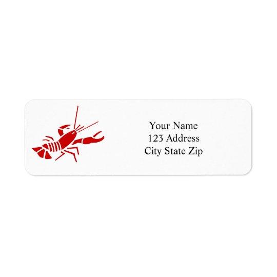 Red lobster return address labels