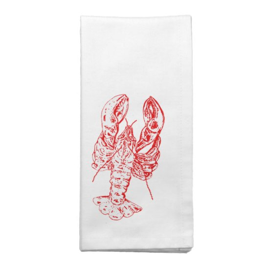 Red lobster Seafood napkins